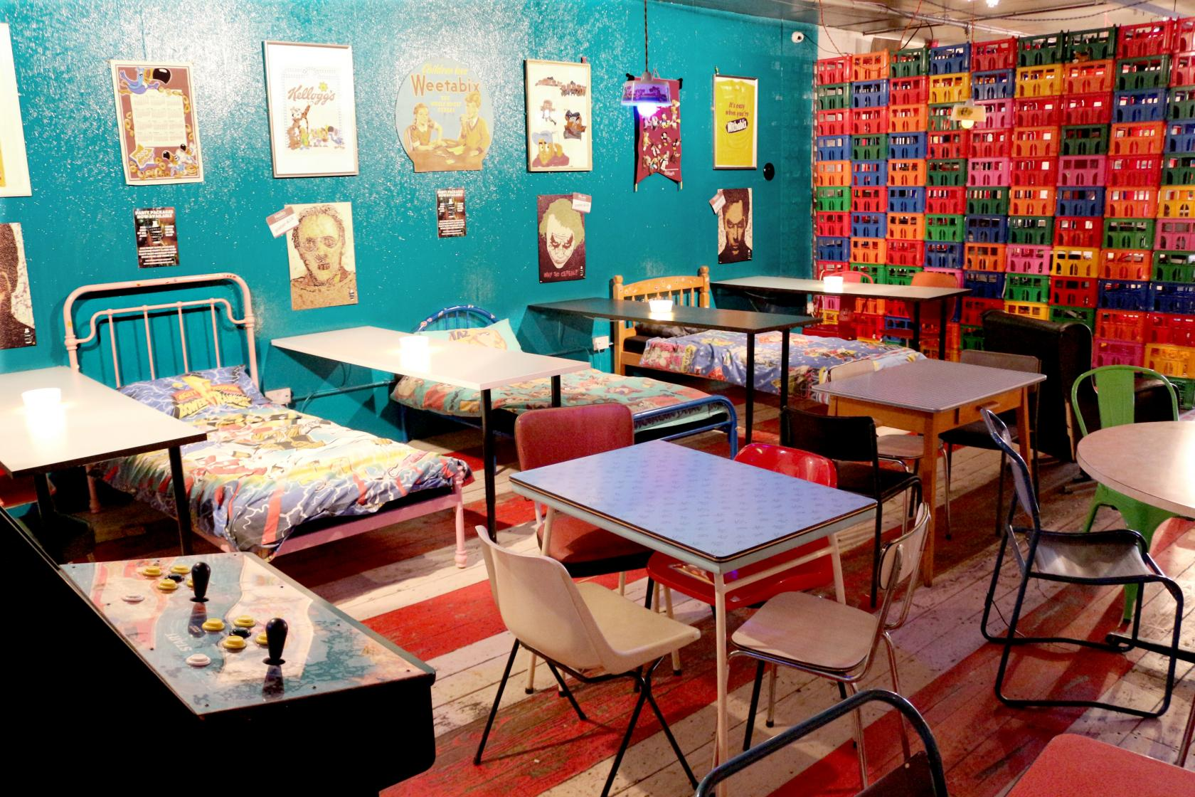 Cereal Killer Cafe Camden sells over 120 different types of cereal. This quirky venue is available for private hire, too!