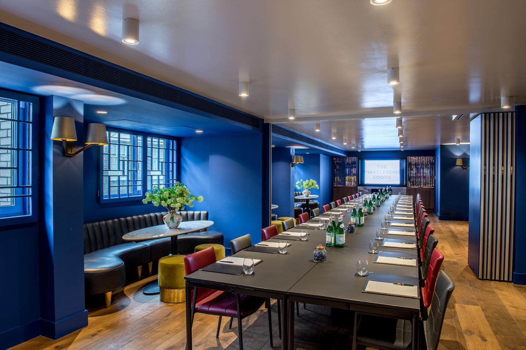 Blue Room The Marylebone Rooms Event Venue Hire