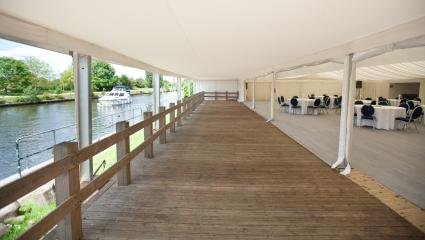 Marquee and Lawns at Ravens Ait Island #4