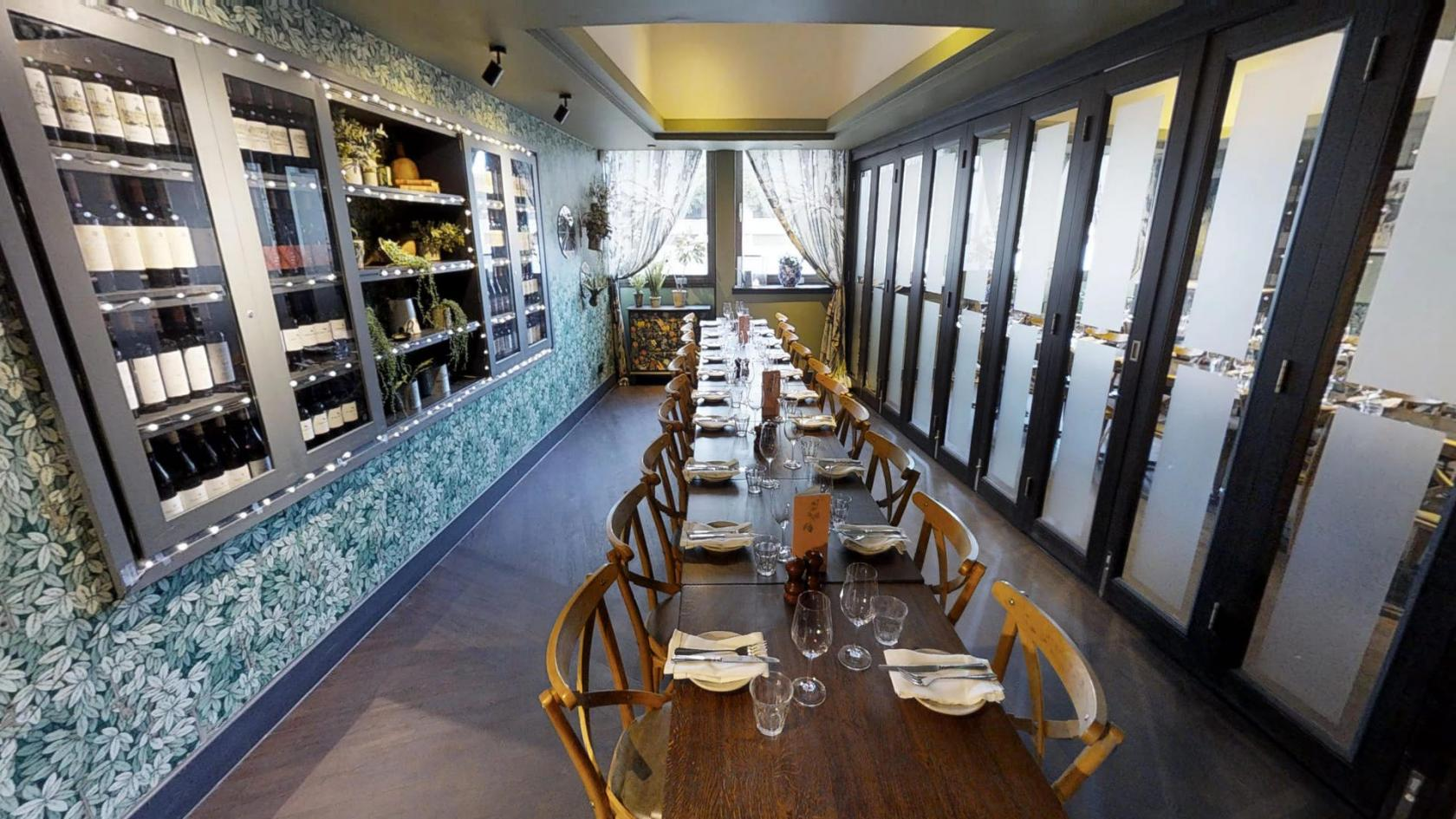 Small Private Dining Room Brasserie Blanc Southbank