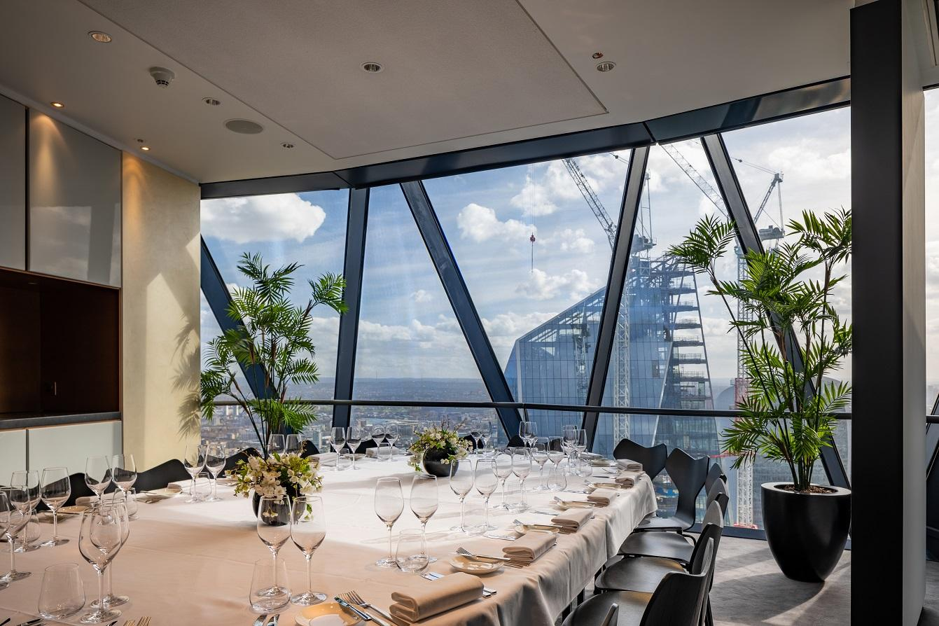 Book Cirrus Room Or Cumulus Room At Searcys At The Gherkin