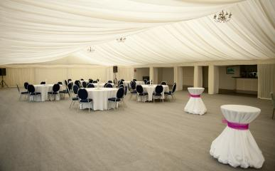 Marquee and Lawns at Ravens Ait Island #3
