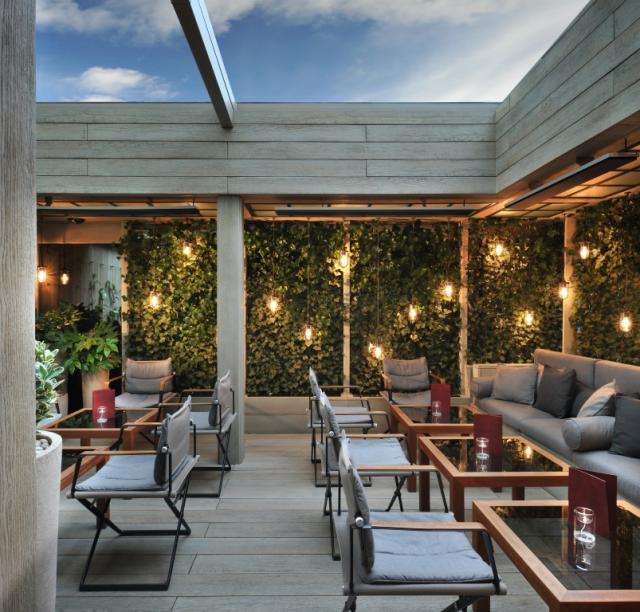 Book the garden terrace at the hari tagvenue for Garden rooms london