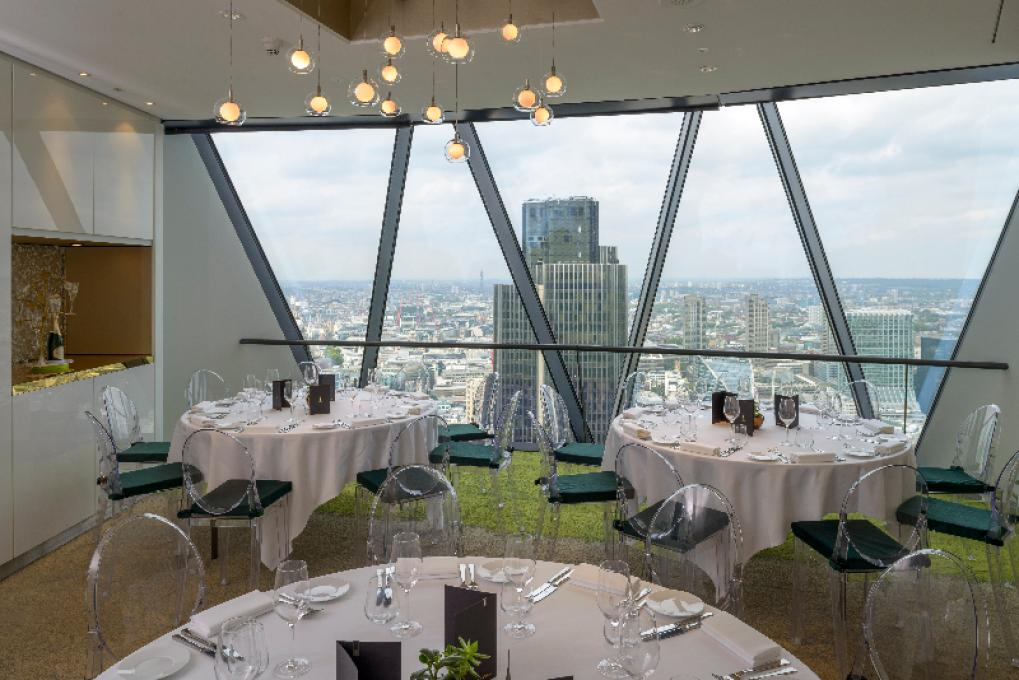 Searcys At The Gherkin Perrier Jouet Dining Room