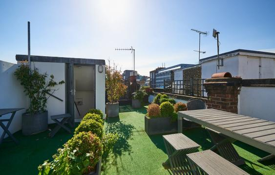 The Soho Roof Garden on Wardour
