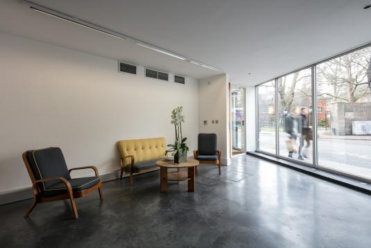 Gallery/reception space