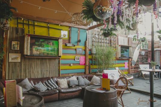 The Malibu Tiki Garden Terrace