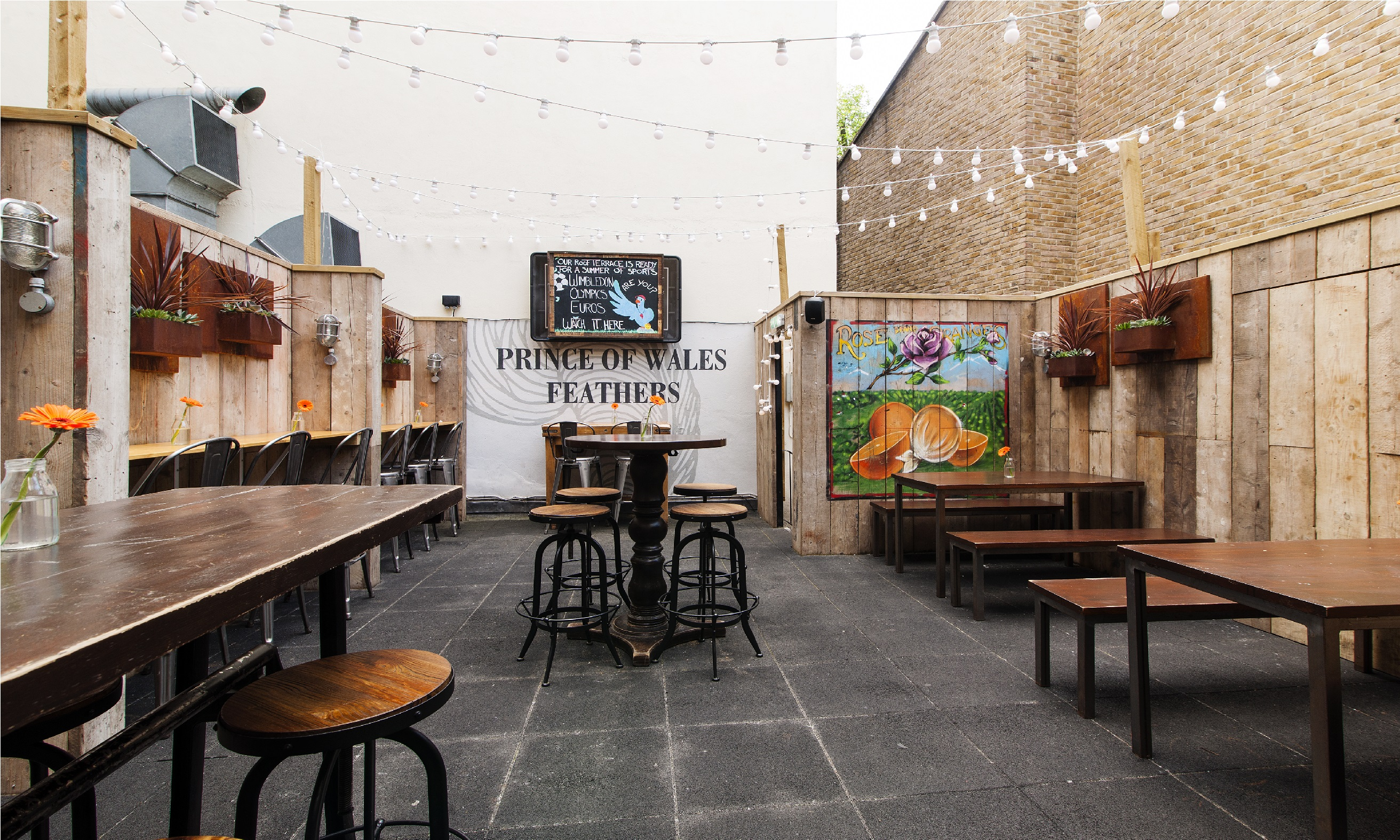 Book the roof terrace at the prince of wales feathers for The terrace house book